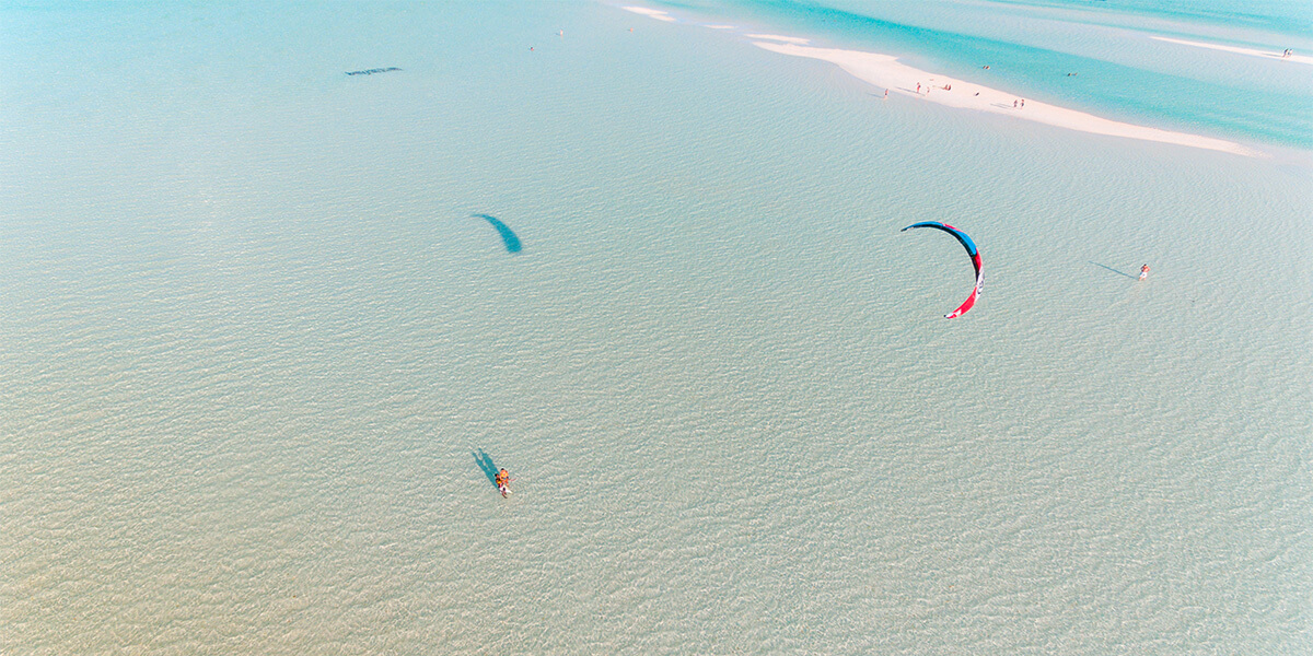 Paje Beach is the best place in the world to practise kitesurfing