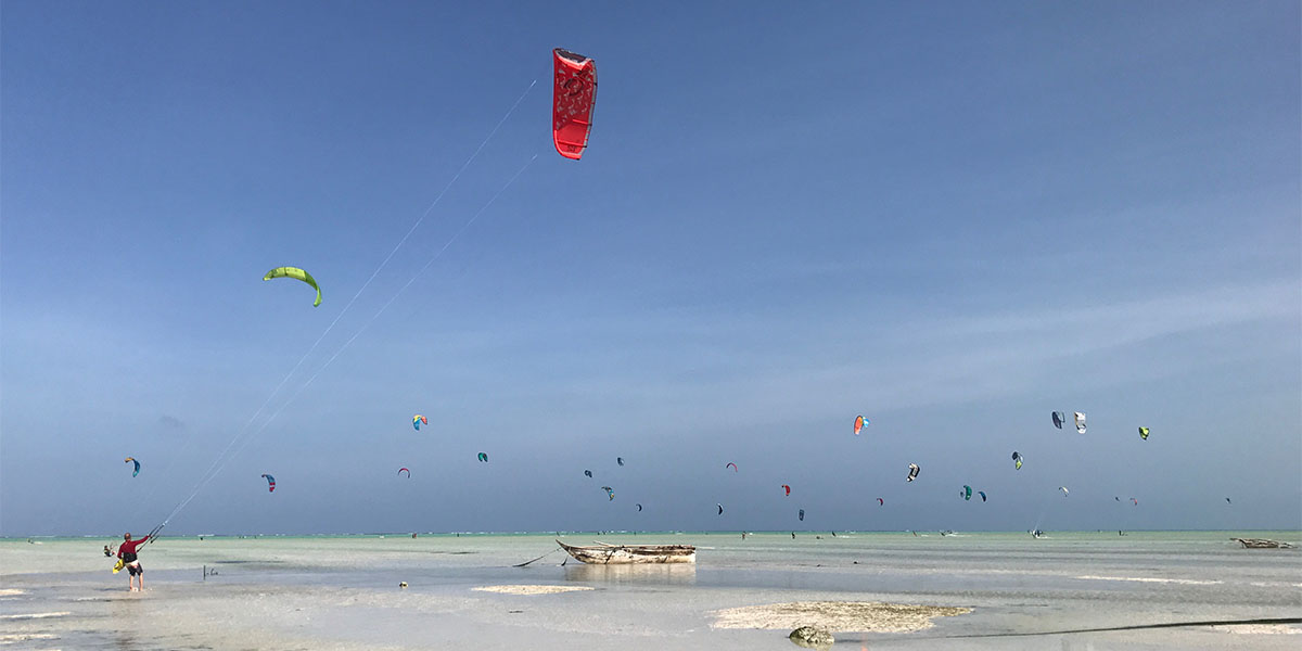 Zanzibar is the best palce in the world for kitesurfing